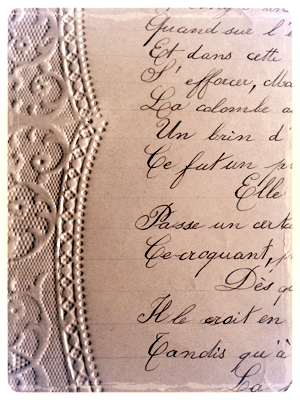 French La Vie Antique Love Letters