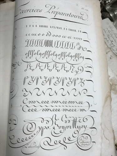 calligraphy louis Rossignol