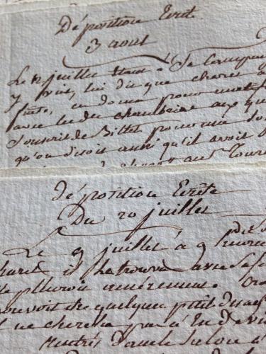 letters, French la Vie