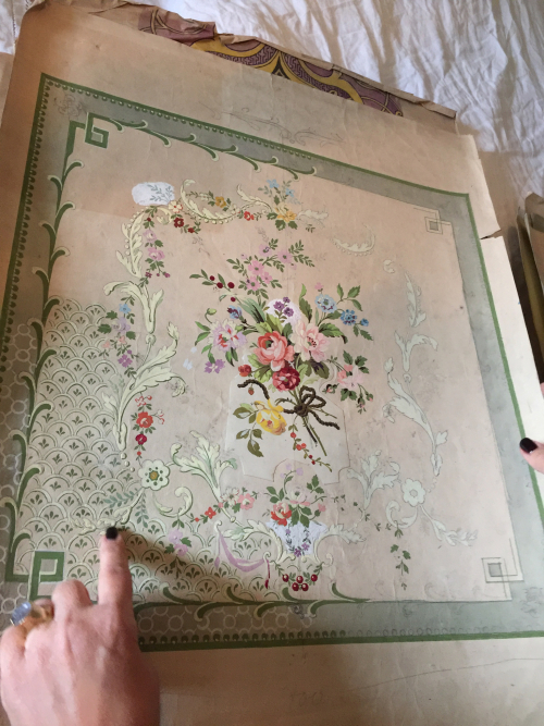 Hand Painted Antique Wallpaper Samples