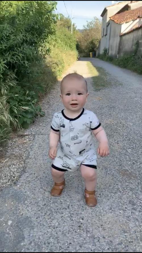he is walking