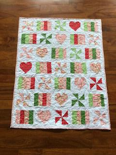 This is a spare baby quilt that I made just to play with these colors