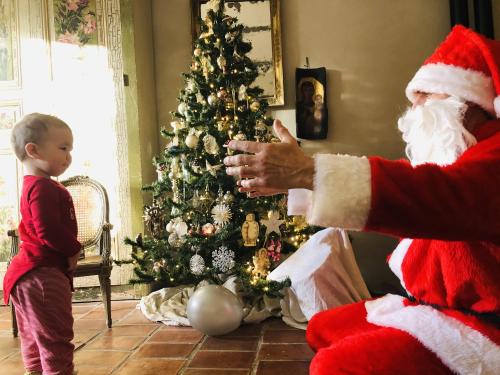 baby meets santa