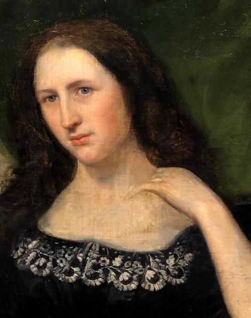 ECOLE SYMBOLISTE (XIX-XXe)  « Portrait de femme