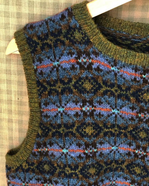 fair island knitted vest