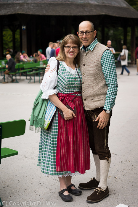 lederhosen, Susan May and her husband