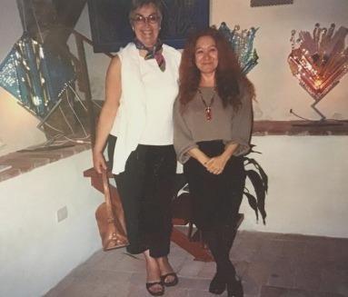Jean Munroe and friend Laura Pesce