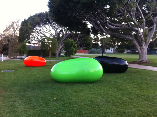 West Hollywood Park, giant jelly beans