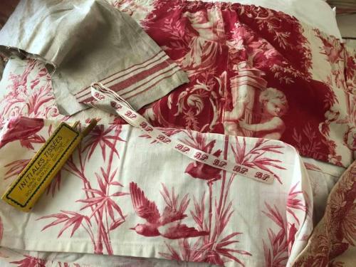 Becky's antique fabrics