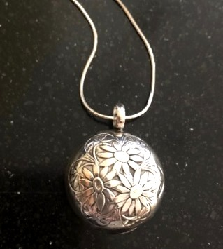 antique baby rattle necklace