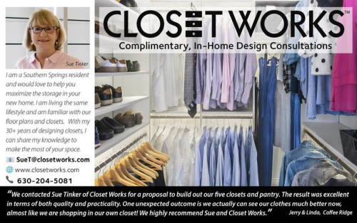 Closet works Sue Tnker