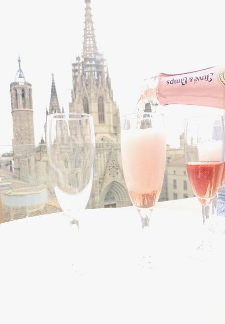 Sacha celebrating in Barcelona