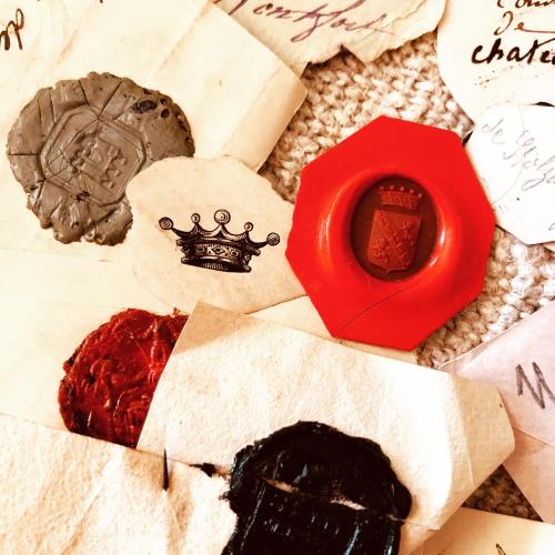 French Antique Wax Seals, French la Vie, Corey amaro